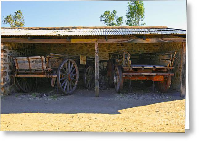 Station Wagon Greeting Cards - Horse Drawn Carts Greeting Card by Bill  Robinson