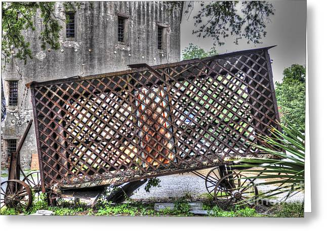 Rusted Horse Drawn Paddy Wagon Greeting Card by Dale Powell