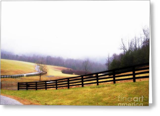 Franklin Farm Greeting Cards - Horse Farm in Rocky Mt VA Greeting Card by Angelia Hodges Clay