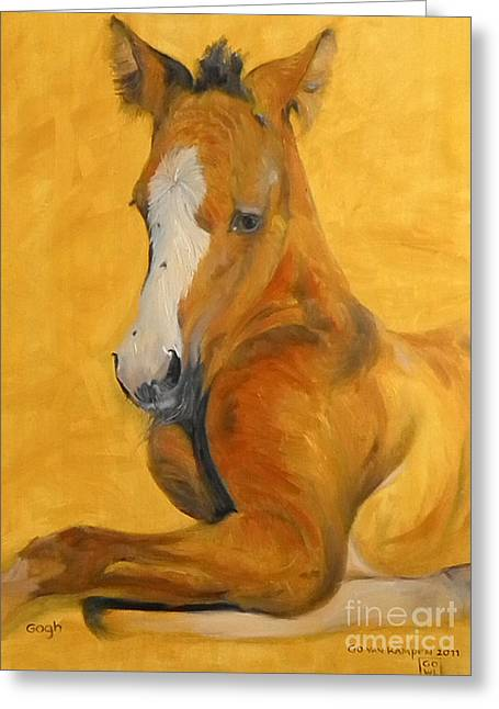 Foal Greeting Cards - horse - Gogh Greeting Card by Go Van Kampen