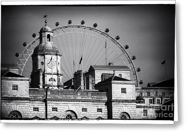 Horse Images Greeting Cards - Horse Guards Headquarters Greeting Card by John Rizzuto