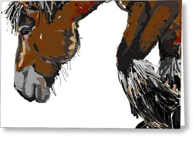 Horses Greeting Cards - horse - Guus Greeting Card by Go Van Kampen
