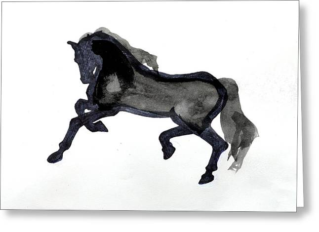 Jogging Drawings Greeting Cards - Horse II Greeting Card by Nancy Mauerman