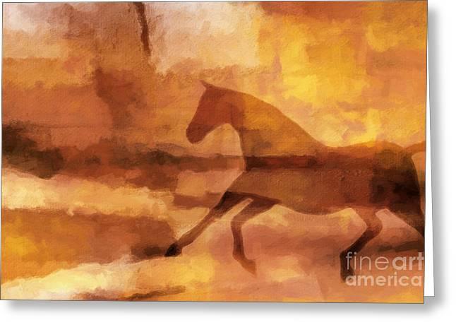 Horse Image Greeting Card by Lutz Baar