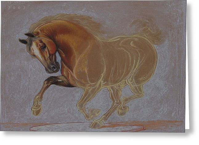 Renaissance Pastels Greeting Cards - Horse is Beautiful # 3 Greeting Card by House Brasil