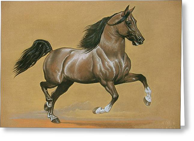Knighting Pastels Greeting Cards - Horse is Beautiful # 5 Greeting Card by House Brasil