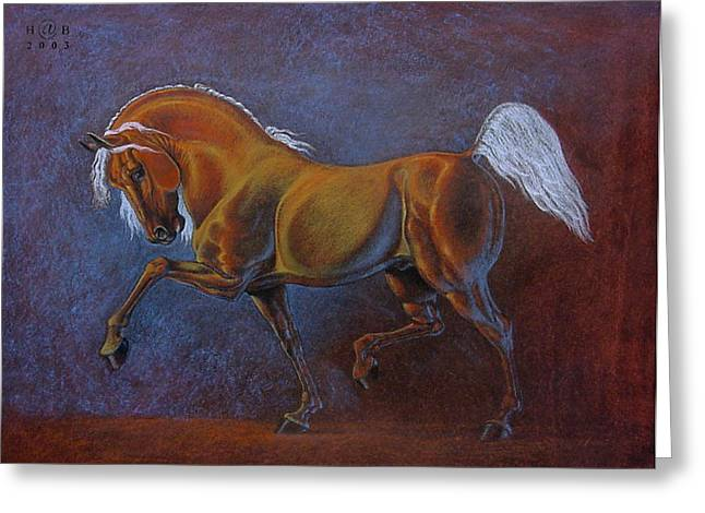 Knighting Pastels Greeting Cards - Horse is Beautiful # 6 Greeting Card by House Brasil