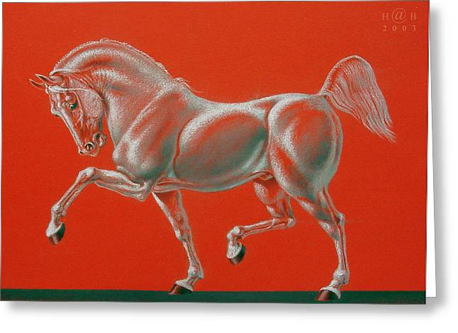Knighting Pastels Greeting Cards - Horse is Beautiful # 2 Greeting Card by House Brasil