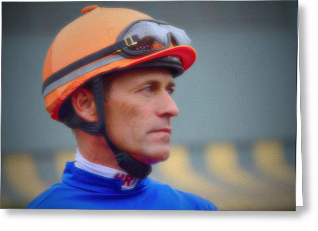 Belmont Stakes Greeting Cards - Horse Jockey- Gary Stevens Greeting Card by See My  Photos