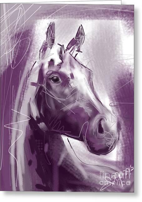 Horse Joshua Greeting Card by Go Van Kampen