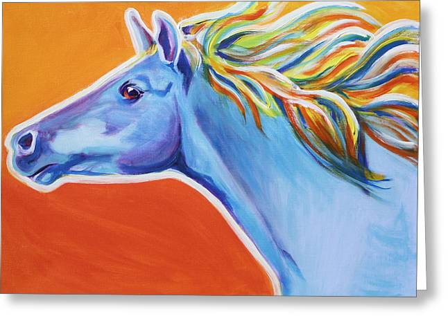 Horse - Like The Wind Greeting Card by Alicia VanNoy Call