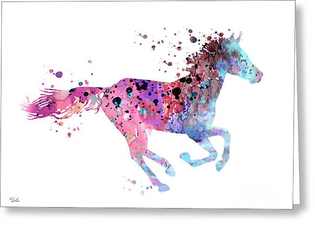 Horse Posters Greeting Cards - Horse Greeting Card by Luke and Slavi