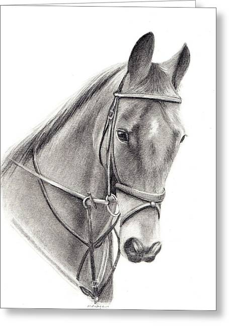 Mary Mayes Greeting Cards - Horse Greeting Card by Mary Mayes