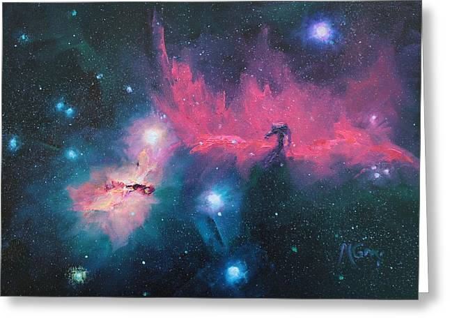 Mariegreen Greeting Cards - Horse Nebula Study Greeting Card by Marie Green