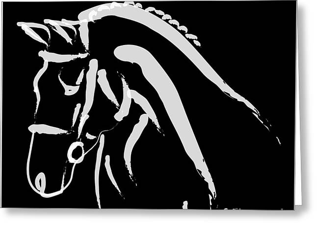 Horse Greeting Cards - Horse Norma Greeting Card by Go Van Kampen