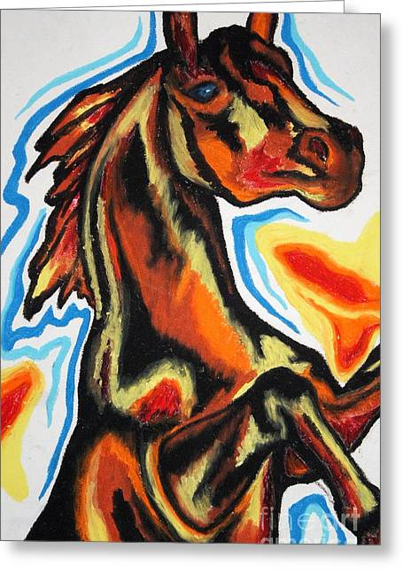 Survivor Art Drawings Greeting Cards - Horse Of A Different Color Greeting Card by Kryztina Spence