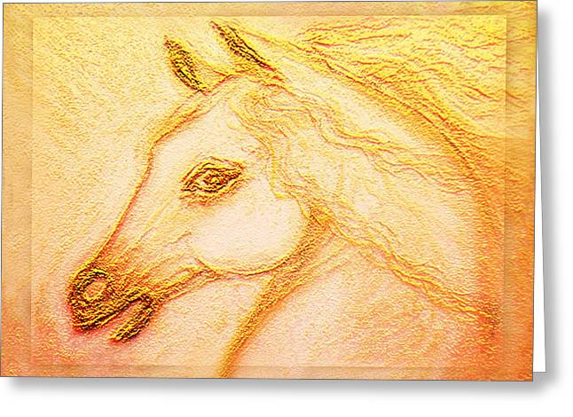 Horse Of The Sun  Greeting Card by Ananda Vdovic