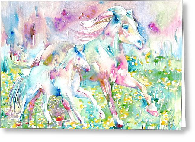 Horse Images Greeting Cards - Horse Painting.17 Greeting Card by Fabrizio Cassetta