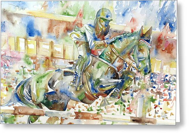 Horse Images Greeting Cards - Horse Painting.21 Greeting Card by Fabrizio Cassetta