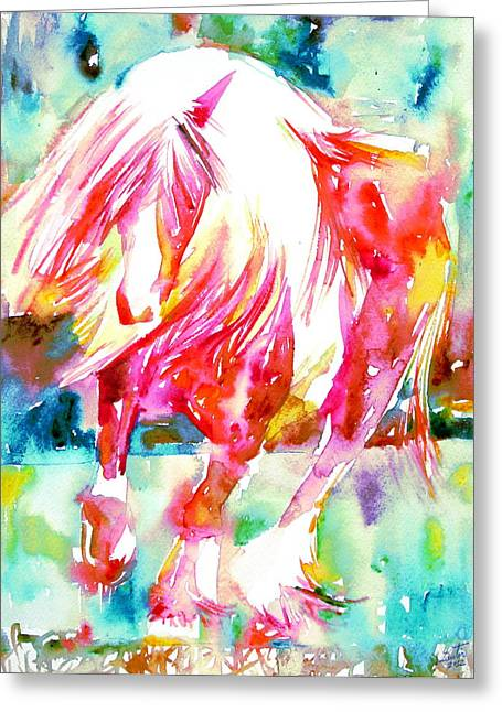 Horse Images Paintings Greeting Cards - Horse Painting.22 Greeting Card by Fabrizio Cassetta
