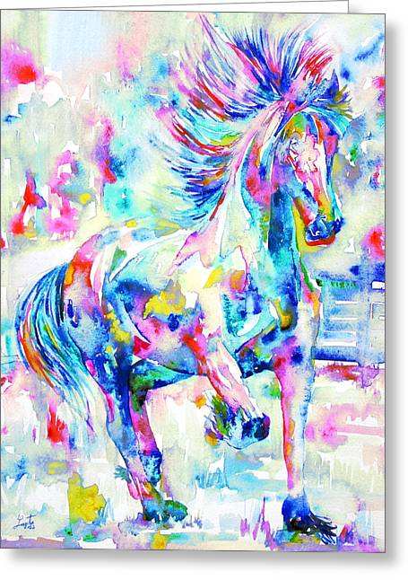 Horse Images Greeting Cards - Horse Painting.3 Greeting Card by Fabrizio Cassetta