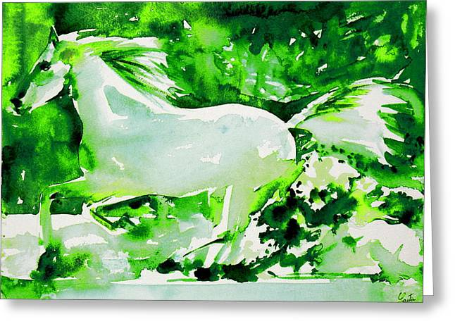 Horse Images Greeting Cards - Horse Painting.4 Greeting Card by Fabrizio Cassetta