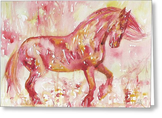 Horse Images Greeting Cards - Horse Painting.5 Greeting Card by Fabrizio Cassetta