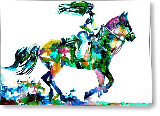 Horse Images Greeting Cards - Horse Painting.6 Greeting Card by Fabrizio Cassetta