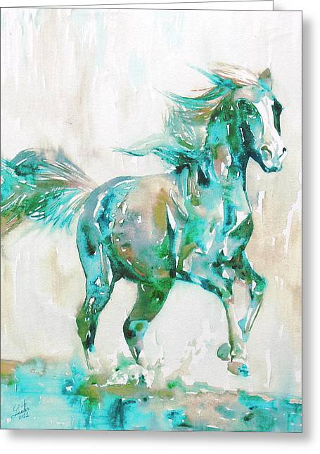 Horse Images Greeting Cards - Horse Painting.8 Greeting Card by Fabrizio Cassetta
