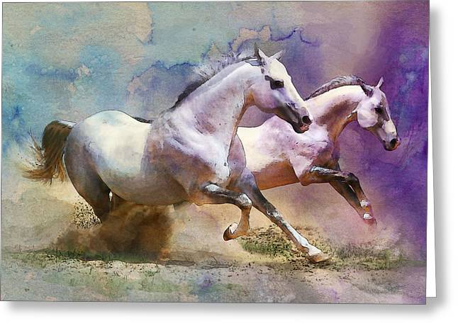 Horse paintings 004 Greeting Card by Catf