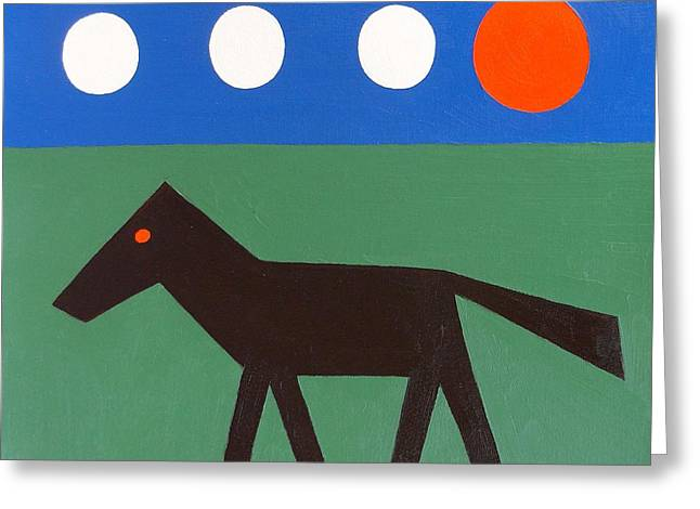 Surreal Horses Fine Art Prints Greeting Cards - Horse Greeting Card by Patrick J Murphy