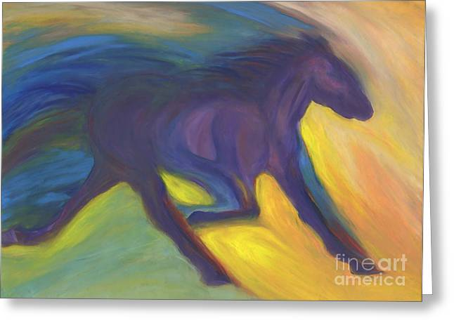 Jogging Greeting Cards - Horse Power by jrr Greeting Card by First Star Art
