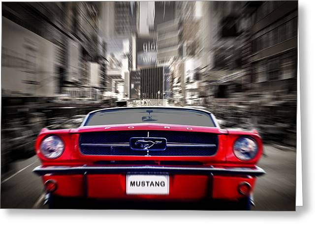 Ford Mustang Greeting Cards - Horse Power Greeting Card by Mark Rogan