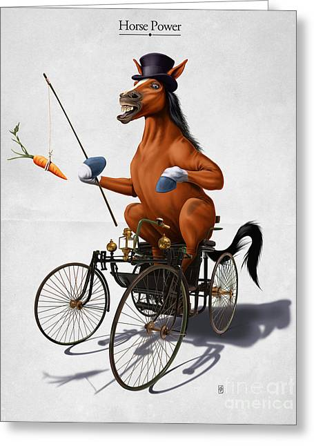 Horse Power Greeting Cards - Horse Power Greeting Card by Rob Snow