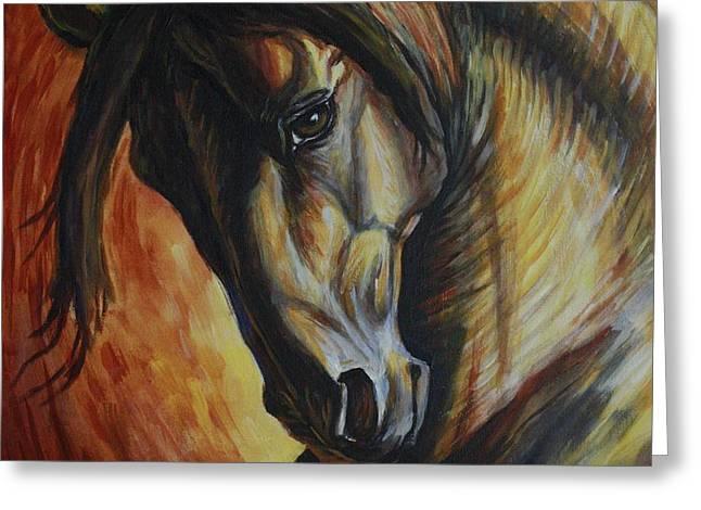 Horse Power Greeting Card by Silvana Gabudean
