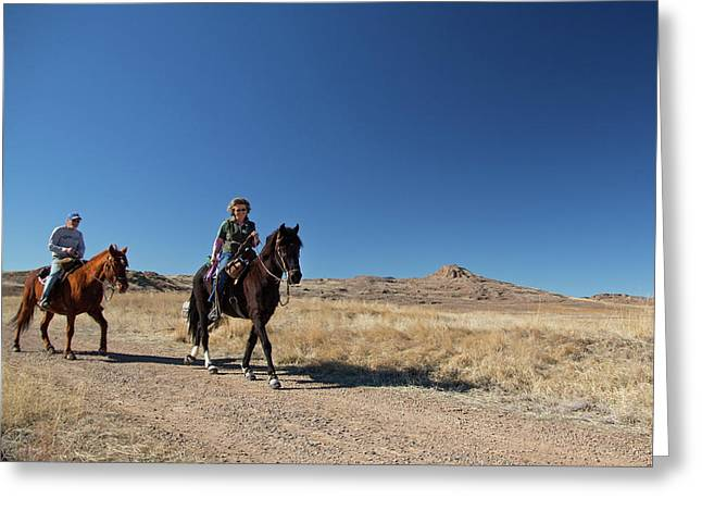 Horse Riding Greeting Card by Jim West