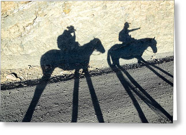 Bolivian Greeting Cards - Horse Shadows Greeting Card by Jess Kraft