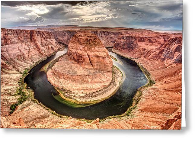 Horse Shoe Greeting Cards - Horse Shoe Bend Greeting Card by Pierre Leclerc Photography