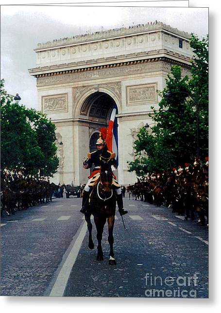 Bastille Greeting Cards - Horse Soldiers Greeting Card by Patricia Januszkiewicz