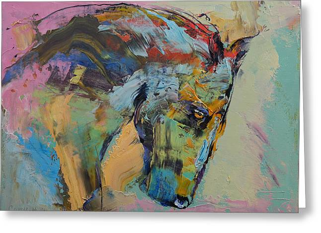 Nature Study Greeting Cards - Horse Study Greeting Card by Michael Creese