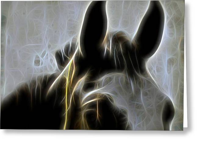 Country Photographs Greeting Cards - Horse Whispers Greeting Card by Gothicolors Donna Snyder