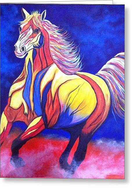 Wildife Paintings Greeting Cards - Horse#5 Greeting Card by Nidhi Khosla