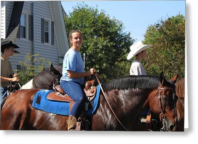 Horseback Riders Greeting Card by Carolyn Ricks