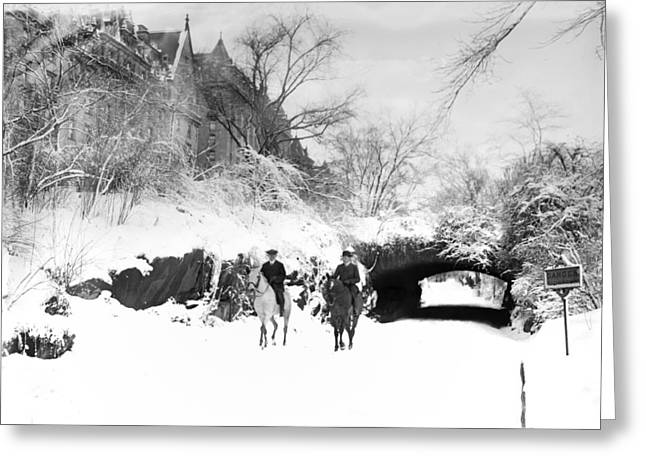 Horseback Riding - Central Park - Vintage Greeting Card by Digital Reproductions