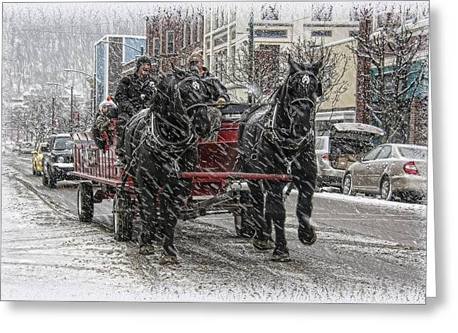 Bradford Greeting Cards - Horsedrawn Carriage Greeting Card by Wade Aiken