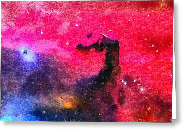 Nitrogen Greeting Cards - Horsehead Nebula Greeting Card by Dan Sproul