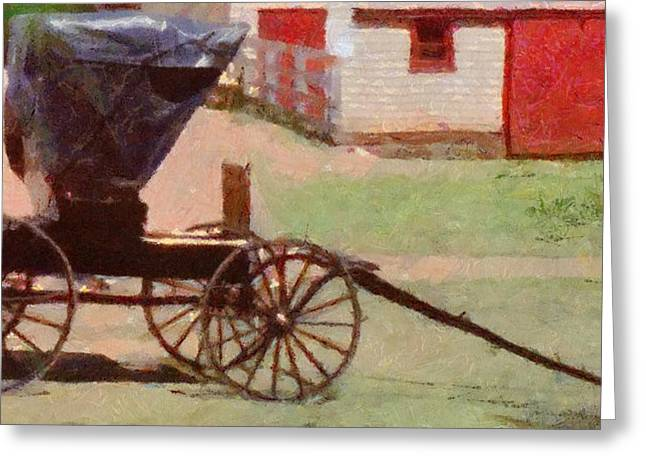 Horseless Carriage Greeting Card by Jeff Kolker