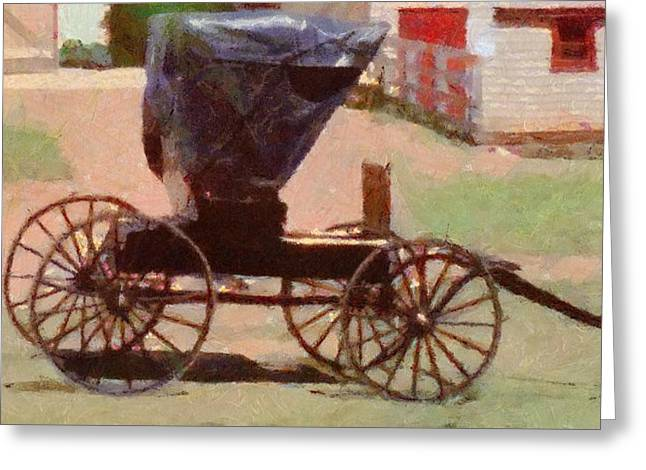 Carriages Greeting Cards - Horseless Carriage Greeting Card by Jeff Kolker