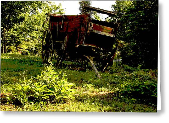 Bluish Green Greeting Cards - Horseless Color Greeting Card by Robert J Andler