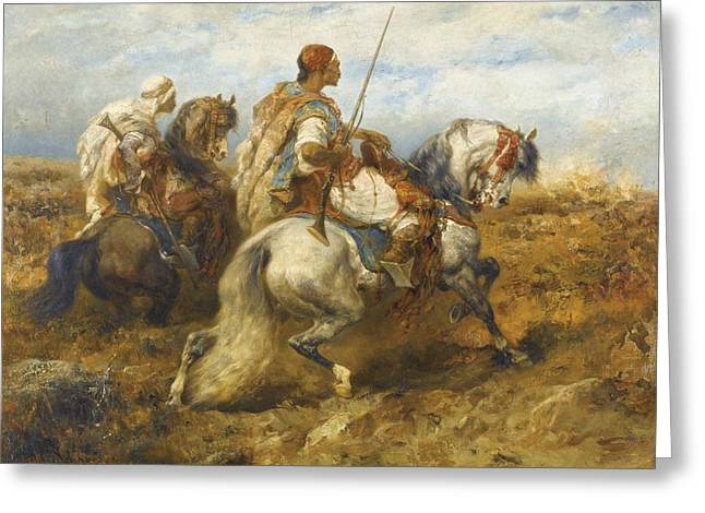 Rosary Greeting Cards - Horsemen Greeting Card by Celestial Images